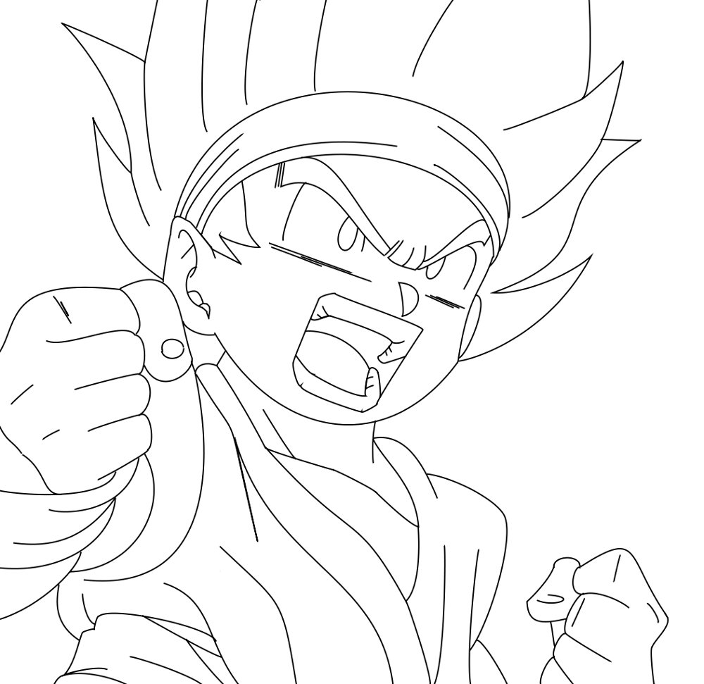 Goko and gogeta free coloring pages for Dragon ball z goku coloring pages
