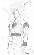 comment dessiner sangoku super sayen 7