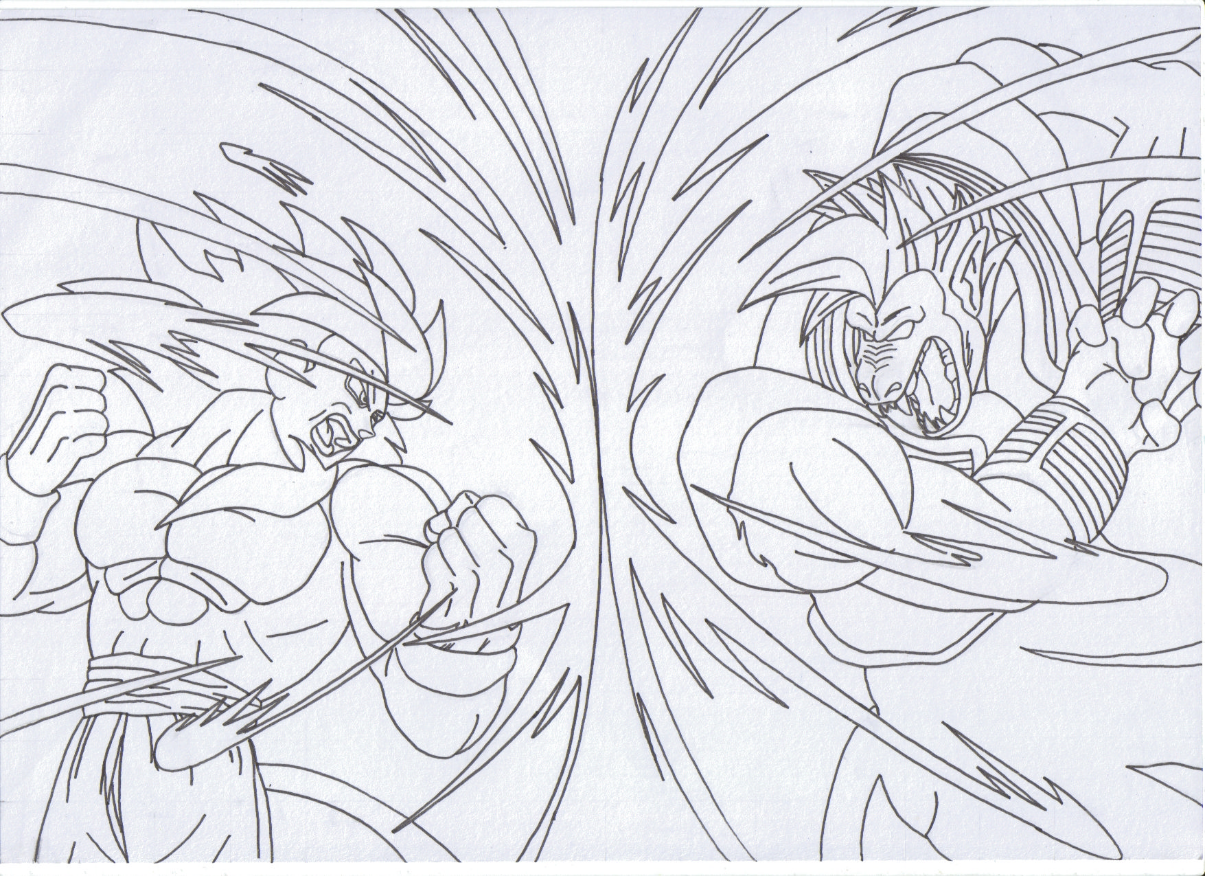 dragon ball z goku vs vegeta coloring pages virtren com